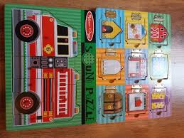 100 Melissa And Doug Fire Truck Puzzle And Hide Seek Magnetic Board Fire Engine Puzzle