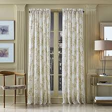 J Queen Brianna Curtains by Willow Print Pinch Pleat Sheer Window Curtain Panel Window