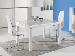 Ideal Sedia Orlando Modern Extending Dining Table In White High Gloss With A Frosted Glass