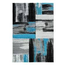 teppich modern flachflor konturenschnitt carving meliert streifen in blau grau für wohnzimmer schlafzimmer myshop24