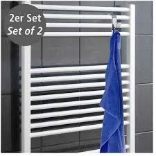 2er set haken für heizkörper chrom badheizung halter ordnung handtuch bad