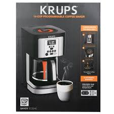 KRUPS EC324 14 CUP THERMOBREW PROGRAMMABLE COFFEE MAKER With Large Cup Capacity