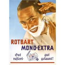 141 Old German Advertising Poster Plakat 1930s Shaving Razor Blade