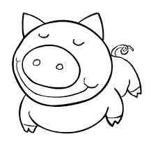 Pig Farm Animal Coloring Pages
