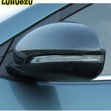 Luhuezu ABS Chromed Side Mirror Cover Door Mirror Cover For