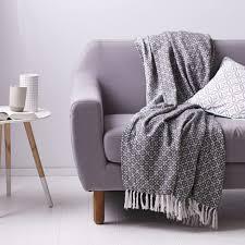 jetee de canapé couvre lit jeté de canapé 100 coton tissé jacquard à micromotifs