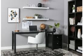 Drop Front Writing Desk by Ina Matte Black 60 Inch Desk W Clear Glass Living Spaces