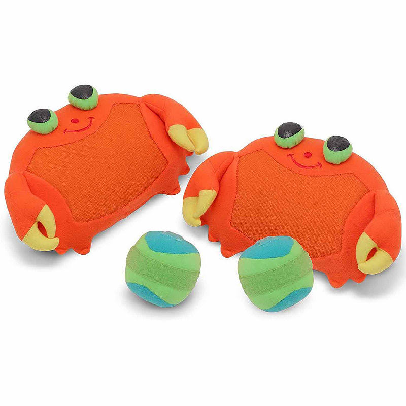 Melissa and Doug Sunny Patch Clicker Crab Toss and Grip Catching Game - with 2 Balls
