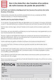 signez la pétition contre la réduction des horaires d ouverture de