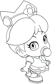 Princess Peach And Daisy Colouring Pages By Coloring Children Free Kids Super Mario Bros Kart