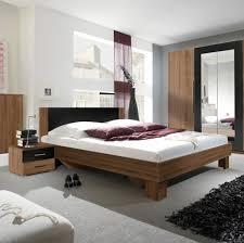 schlafzimmer set doppelbett ehebett 180x200cm kernnuss rot schwarz 14387