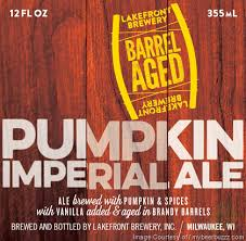 Lakefront Pumpkin Lager by Lakefront Barrel Aged Spiced Winter Lager U0026 Pumpkin Imperial Ale