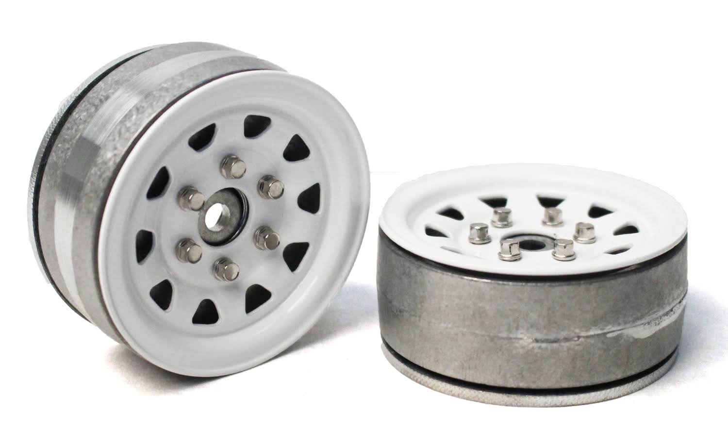 Gmade 1.9 SR04 Beadlock Wheels (Gloss White) (2) 70496