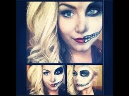 Halloween Half Mask Makeup by Best 25 Skelton Makeup Tutorial Ideas On Pinterest Halloween