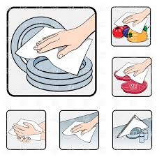 Hand Wiping With Napkin