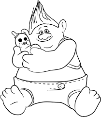 Coloriage Les Trolls Coloriages Pour Enfants à Dessin De Troll