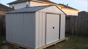 Arrow Woodridge Steel Storage Sheds by Arrow 10 X 8 Tool Shed Build Youtube