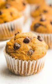 Healthy Chocolate Pumpkin Desserts by Chocolate Chip Pumpkin Mini Muffins Amy U0027s Healthy Baking