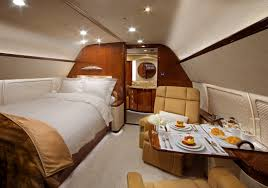 Luxury bedroom for one inside a private jet CozyPlaces