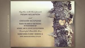 Old Mossy Tree Rustic Wedding Invitations
