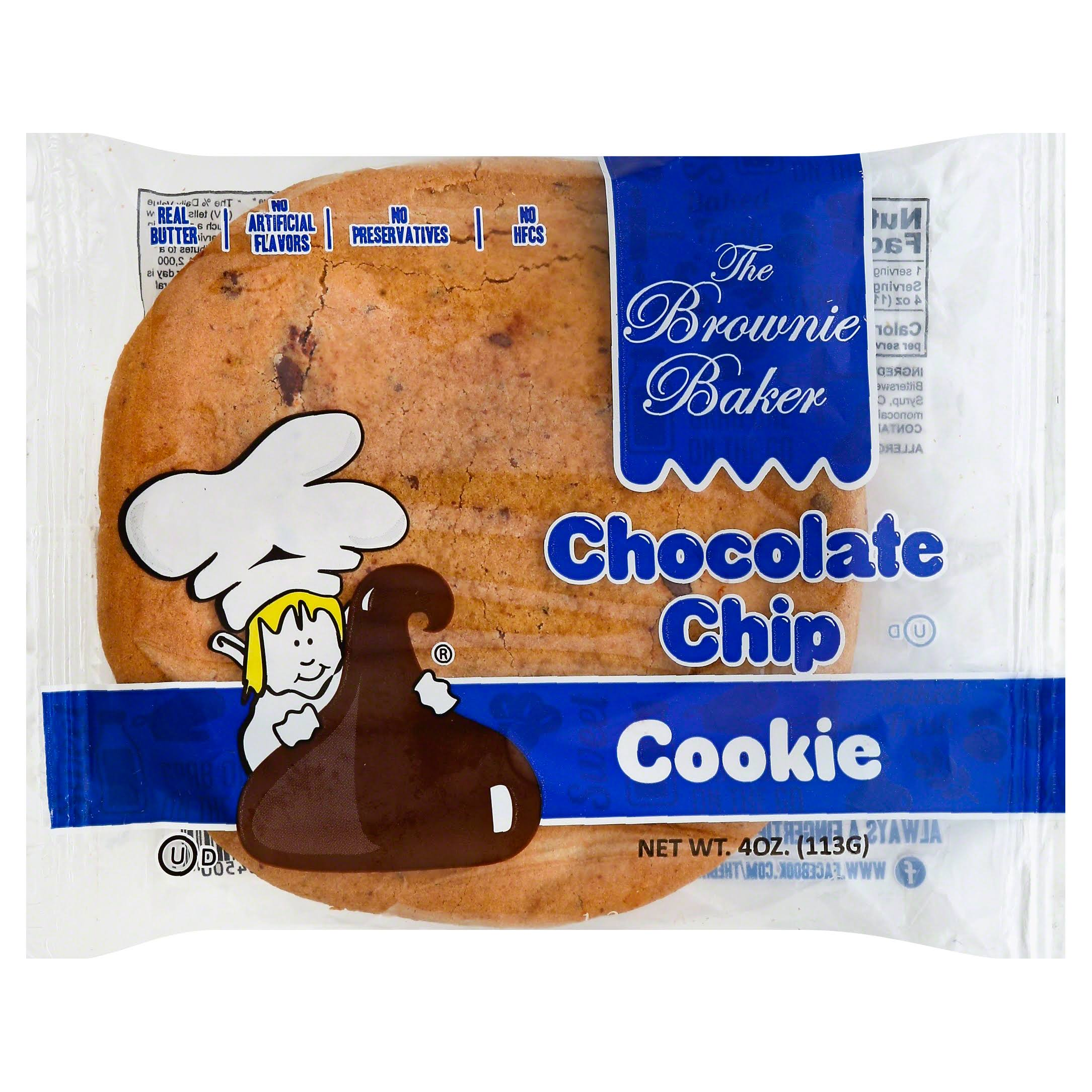 Brownie Baker Cookie, Chocolate Chip - 4 oz