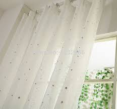 cotton voile curtains white fabric sheer silver pressed tulle for