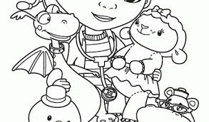 Coloring Page Disney Junior Pages Sheriff Callie At Color Peck And Toby Free Printable