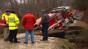 Firetruck Gets Stuck In Creek On Way To House Fire In Buncombe ...