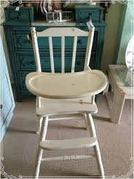 Vintage Wooden Baby High Chair | Ginger's Attic