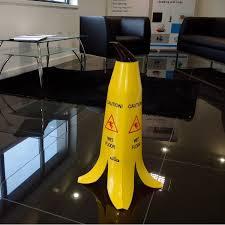 Banana Wet Floor Sign by Safety Floor Sign Banana Cone Wet Floor Sign 60cm Summit Hygiene