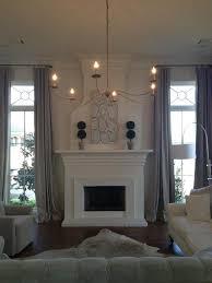 fireplace between windows home pinterest living rooms