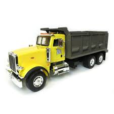 1/16th Big Farm Yellow Peterbilt Tandem Axle Dump Truck