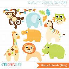 Clipart Safari Animals Clipart Baby Boy Animals Digital