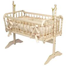 Antique Spindle Cradle In Versailles Finish and Luxury Baby Cribs
