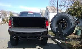 100 Semi Truck Spare Tire Carrier Wilco Offroad Hitchgate Offset