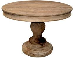 Solid Wood Round Dining Table Rustic Design Home Exterior Miles