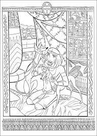 Mosaic Ancient Egypt Coloring Page PageFull Size Image