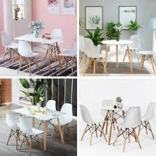 details zu essgruppe küchentisch mit 4 stühlen holz möbel sitzgruppe esszimmer 5tlg set neu