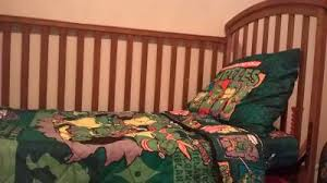 Ninja Turtle Toddler Bed Set by Nickelodeon Teenage Mutant Ninja Turtles 4 Piece Toddler Bedding