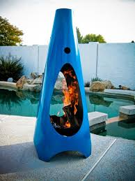 Enchanting Portable Fireplace for Contemporary Terrace and Patio