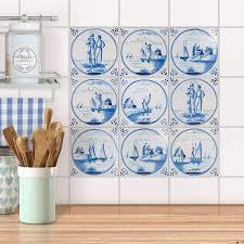 fliesenaufkleber set für küche bad design holländische fliese