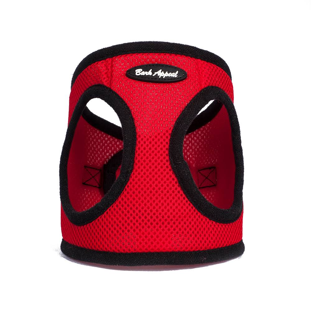 Bark Appeal SRMEW-M Mesh EZ Wrap Harness Red - Medium