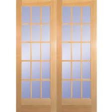 Jen Weld Patio Doors Home Depot by Builder U0027s Choice 60 In X 80 In 15 Lite Clear Wood Pine Prehung