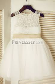 keyhole ivory lace tulle wedding flower dress champagne pink