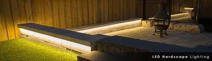 led hardscape lights rail retaining wall 12v