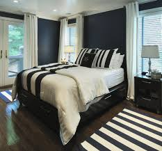 Navy And White Bedroom Contemporary