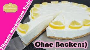 zitronen mascarpone torte ohne backen