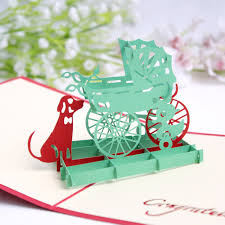 Baby Shower Cards Samples by Free Shipping Pop Up Paper Cradle With Dog Greeting Card Sample 3d