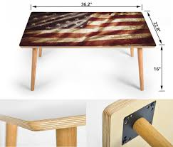100 Living Room Table Modern American Flag Coffee Wood Rectangle