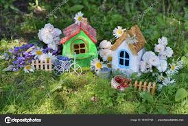 100 Small Beautiful Houses Two Small Beautiful Houses With Garden Flowers And Summer Berries